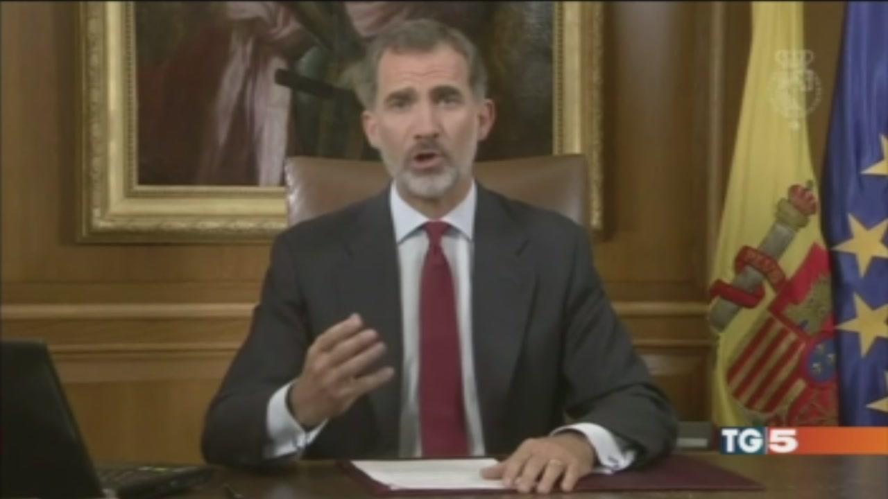 Re Felipe ai catalani: sleali e irresponsabili