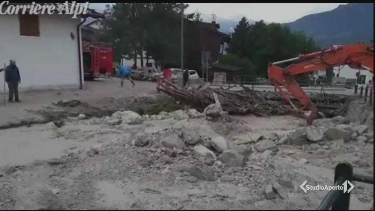 Bomba d'acqua, un morto a Cortina