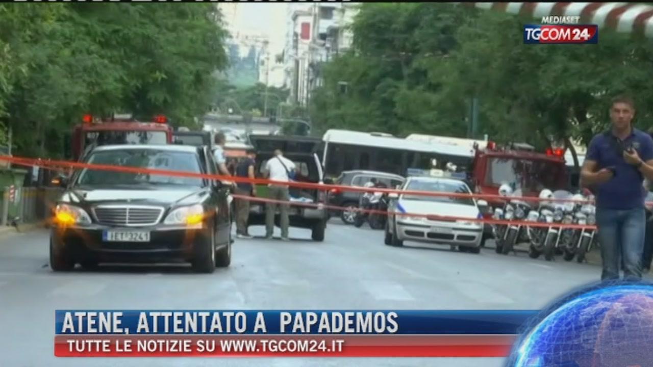 Atene, attentato a Papademos