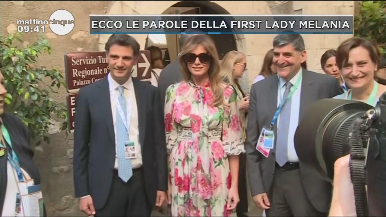 Ecco le parole della first Lady Melania