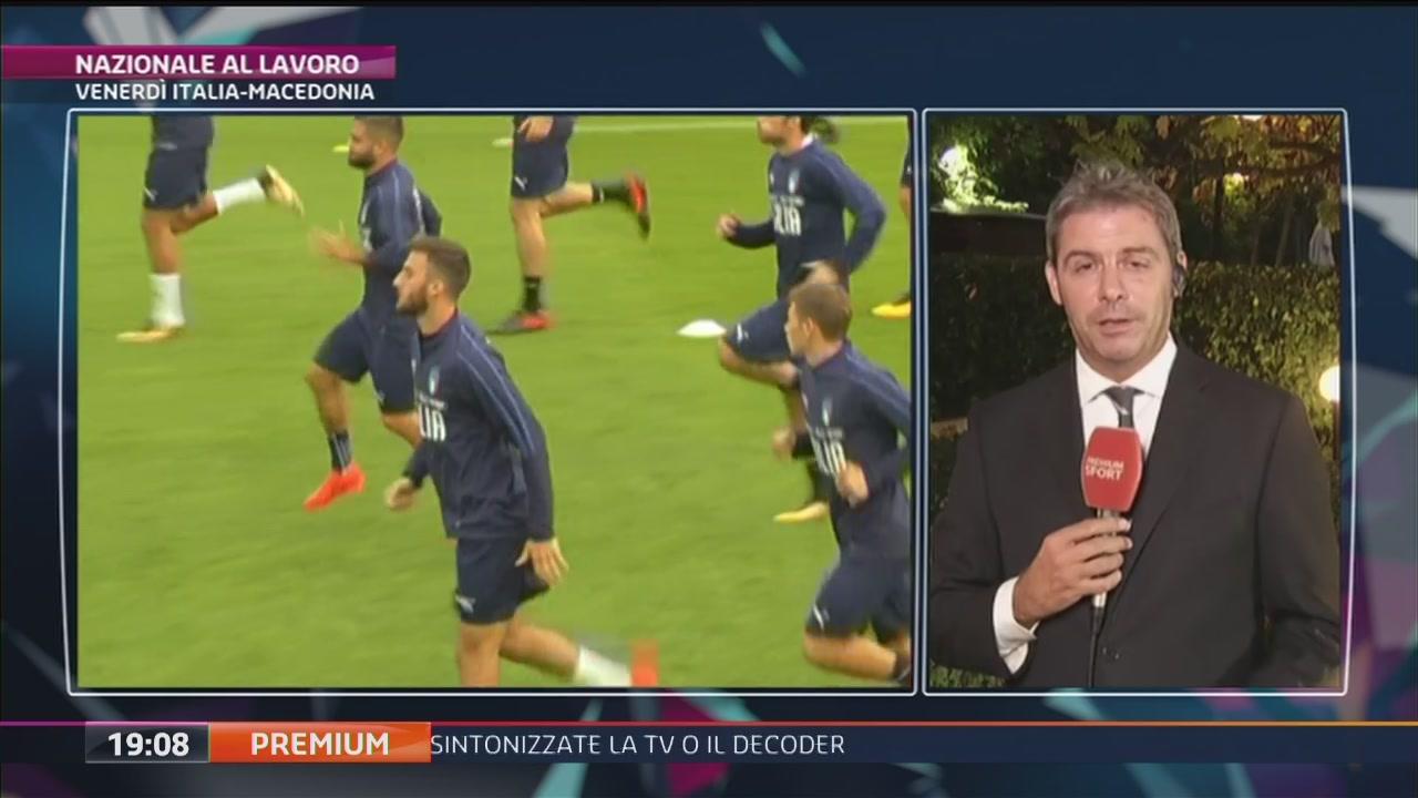L'Italia prepara la gara con la Macedonia
