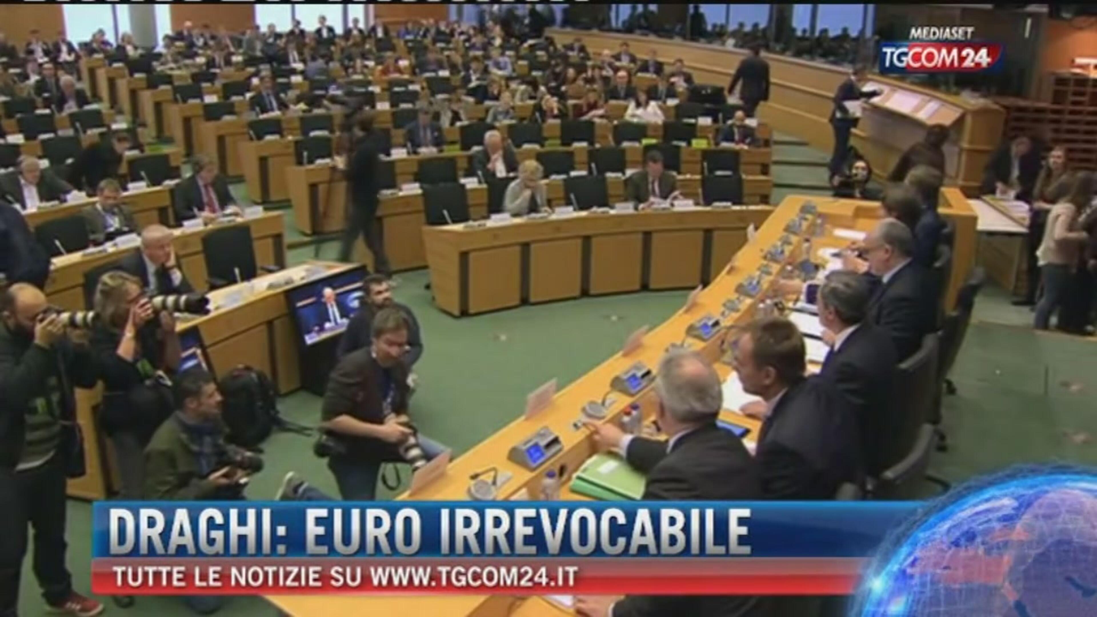 Draghi: Euro irrevocabile