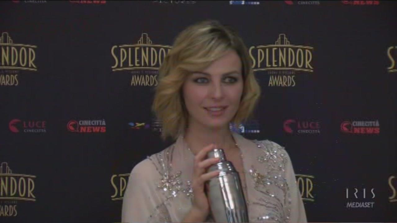 Violante Placido ritira lo splendor Award