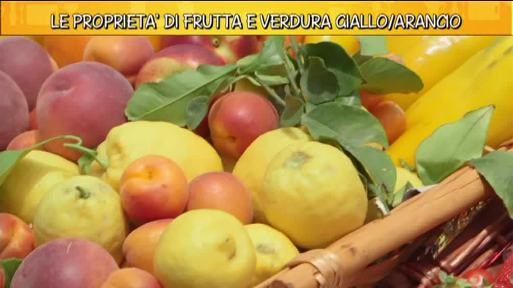 Le proprietà di frutta e verdura giallo/arancio