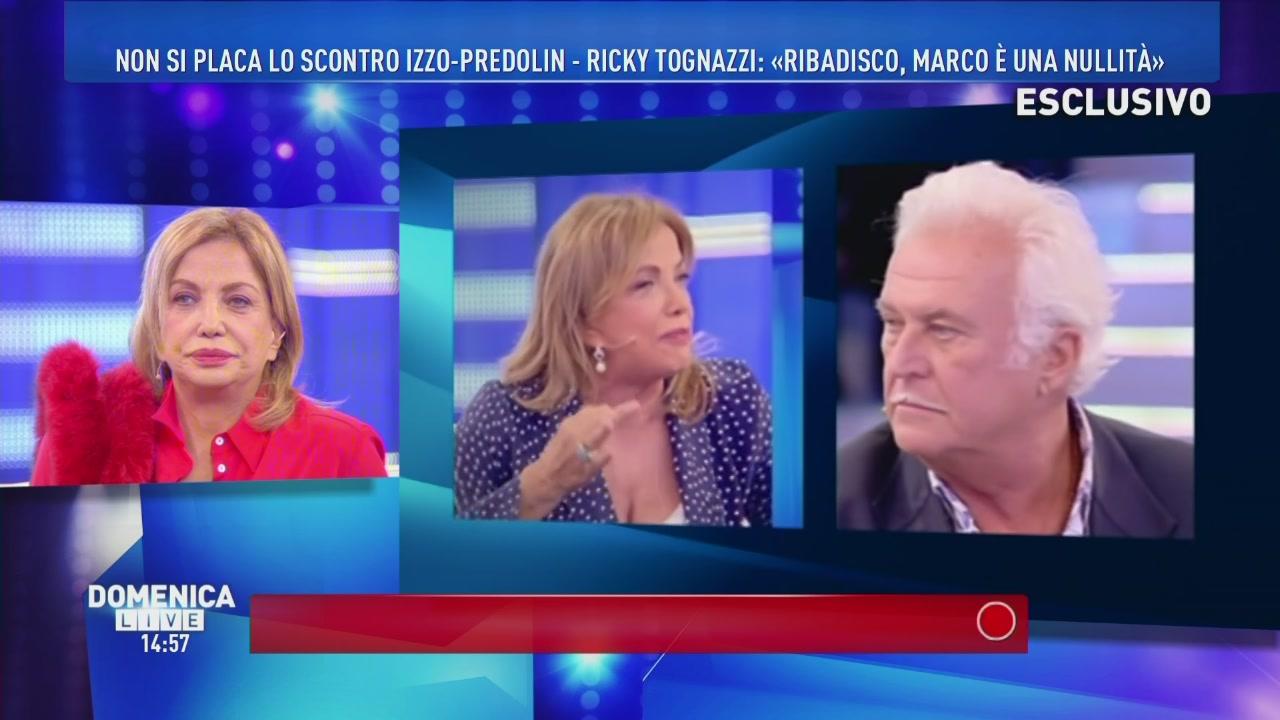 Non si placa lo scontro Izzo-Predolin-Ricky Tognazzi