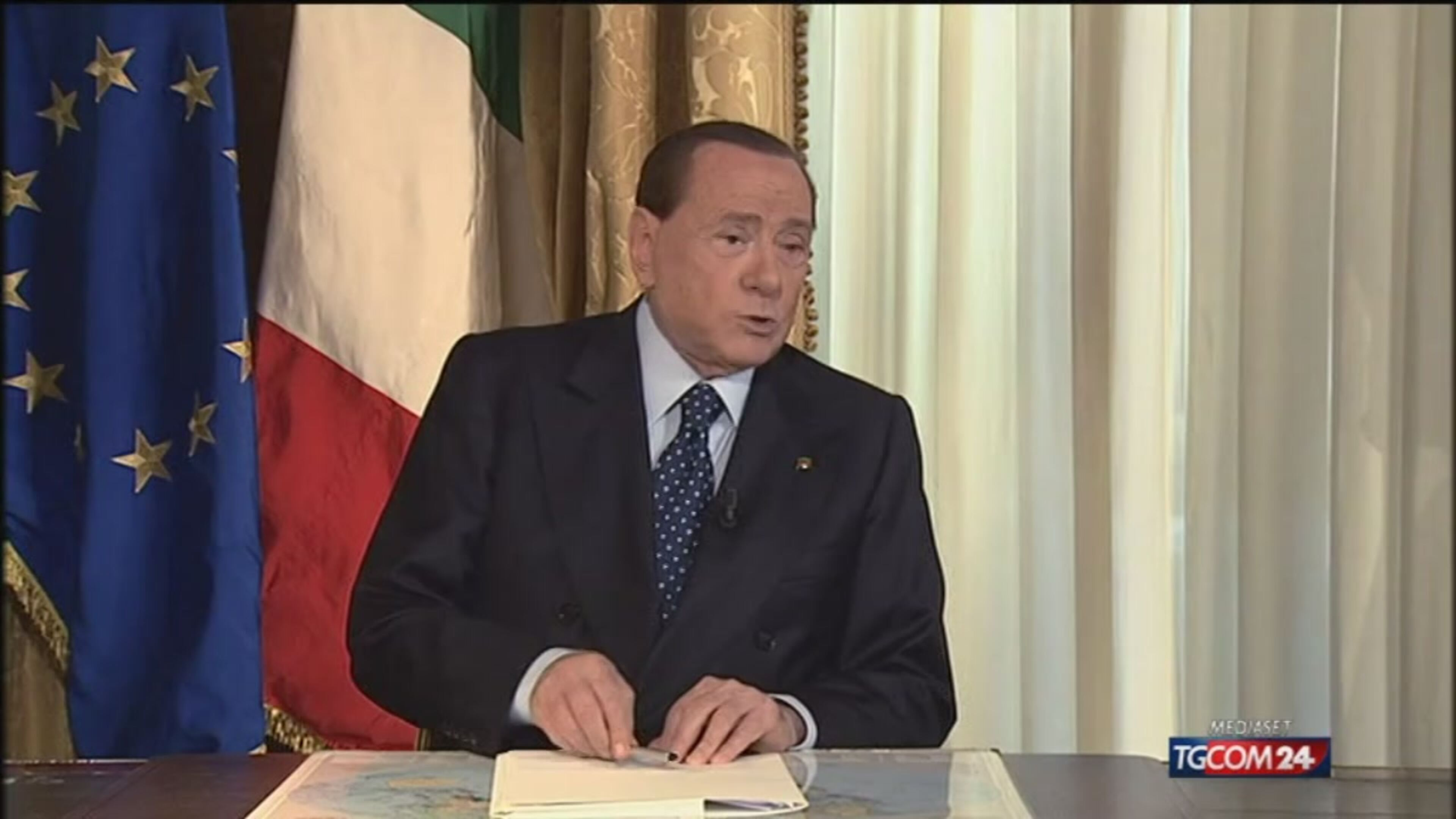 Berlusconi interviene al Tg5