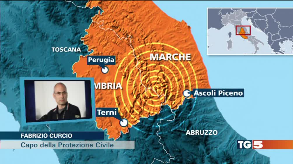 Forte terremoto, è paura in centro Italia