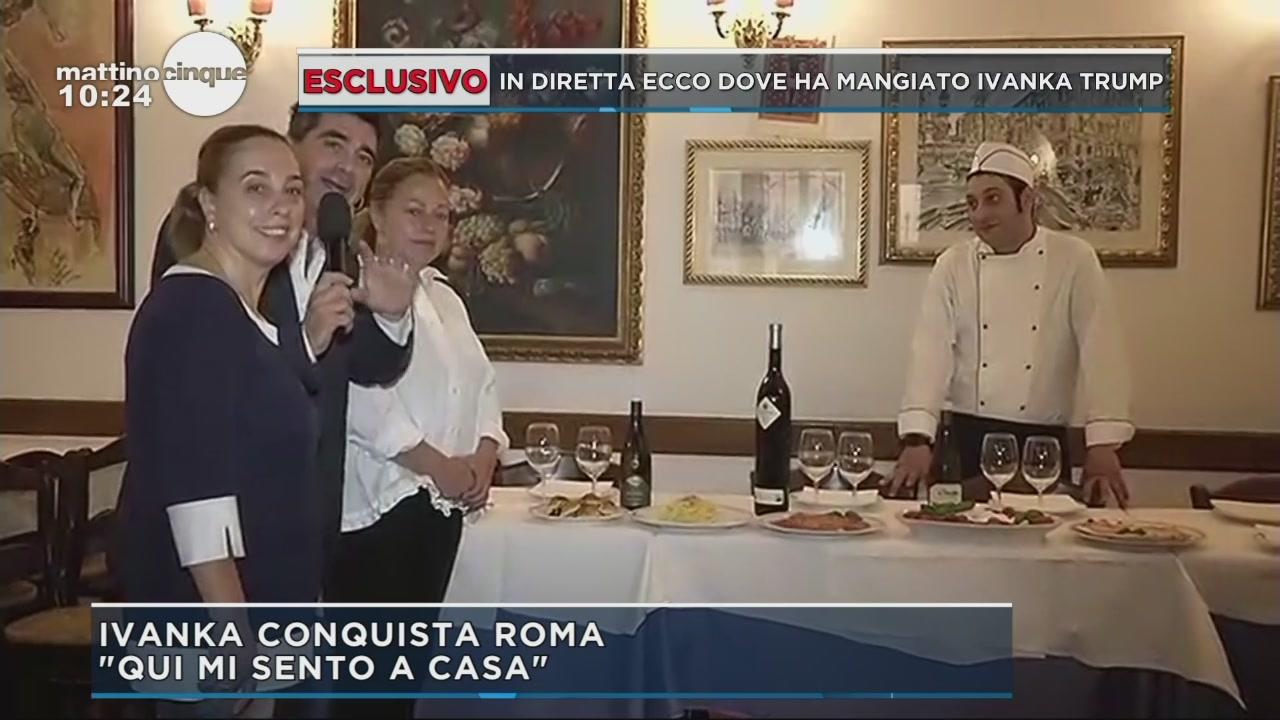 Il menù romano di Ivanka Trump