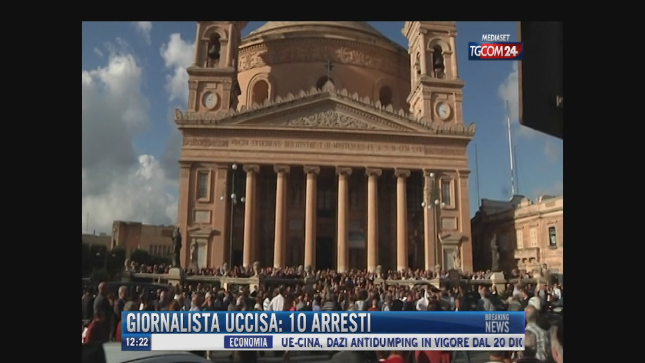 Breaking News delle ore 12.20: Giornalista uccisa a Malta, dieci arresti