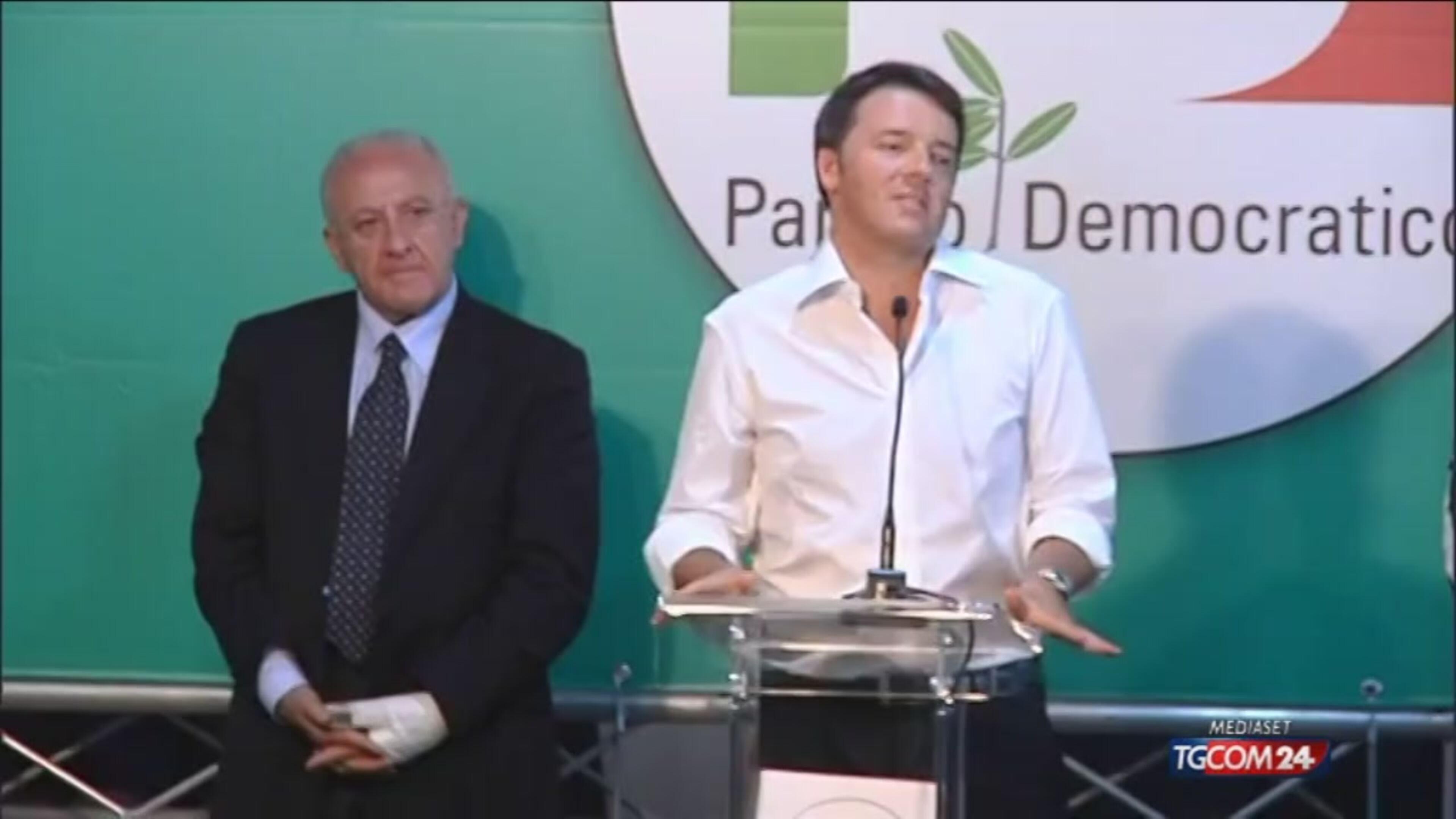 Renzi: elezioni si vincono dando fiducia agli italiani