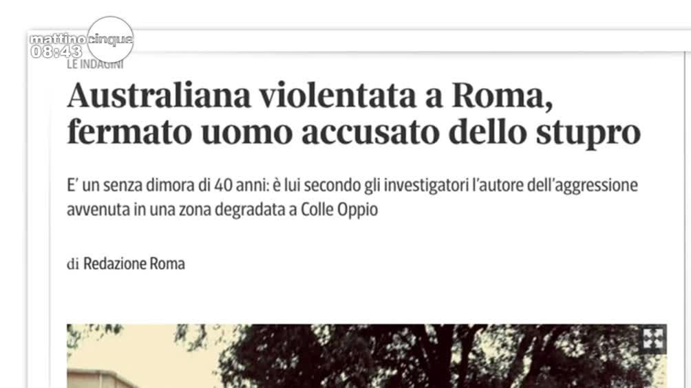 Stupro a Roma: ultimora