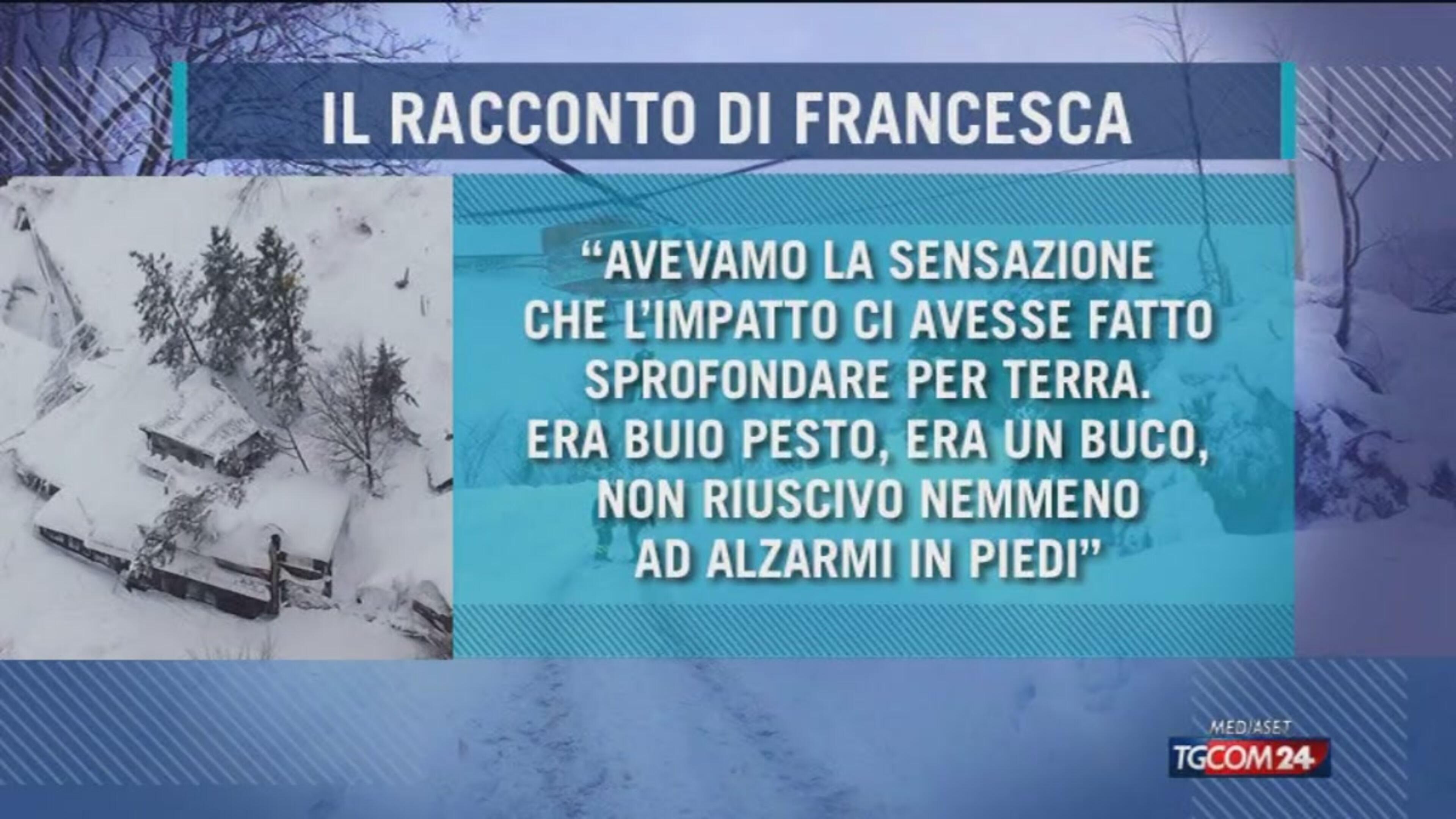 "Rigopiano, ""salvi mangiando la neve"""