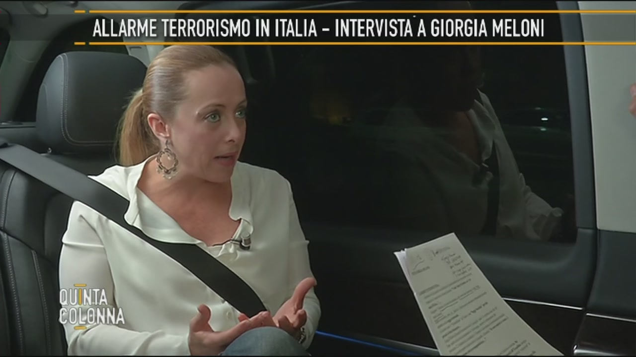 Giorgia Meloni: Terrorismo e degrado delle periferie