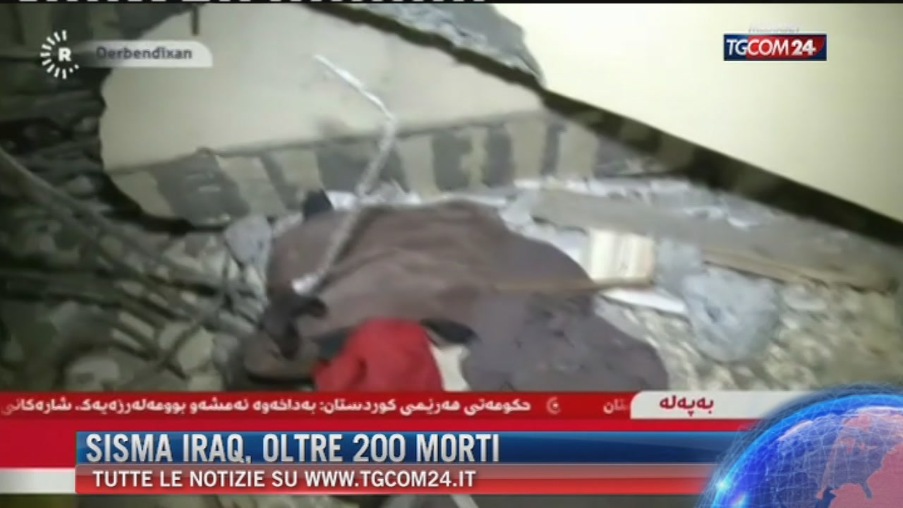 Scossa di magnitudo 7.2 al confine tra Iran e Iraq: 214 morti e 1.700 feriti