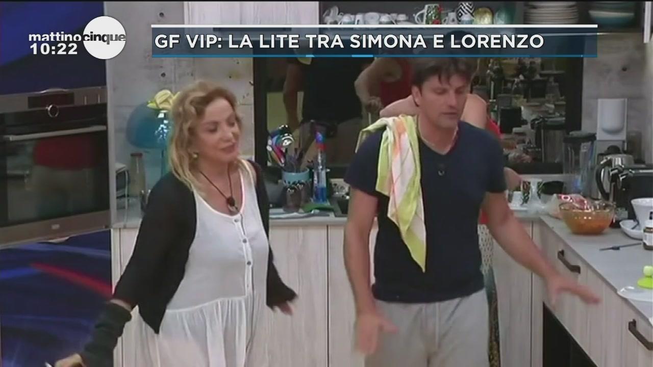 GF VIP: La litre tra Simona e Lorenzo