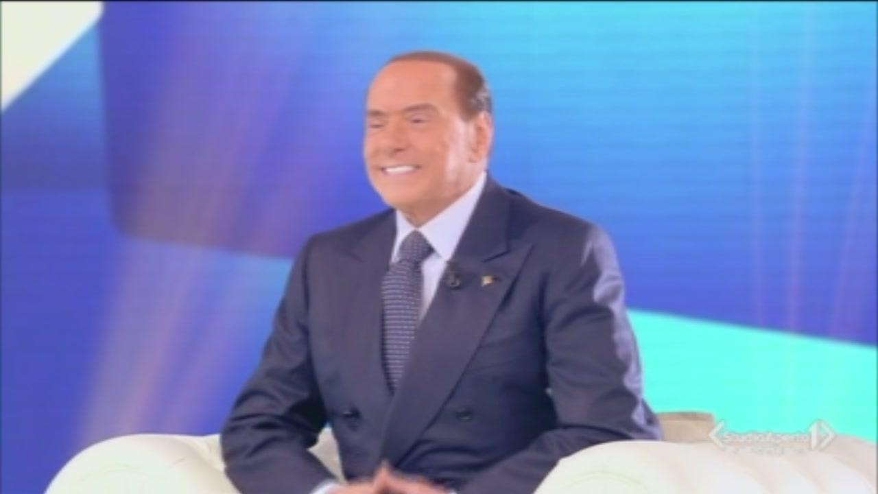 Silvio Berlusconi ospite di Barbara D'Urso