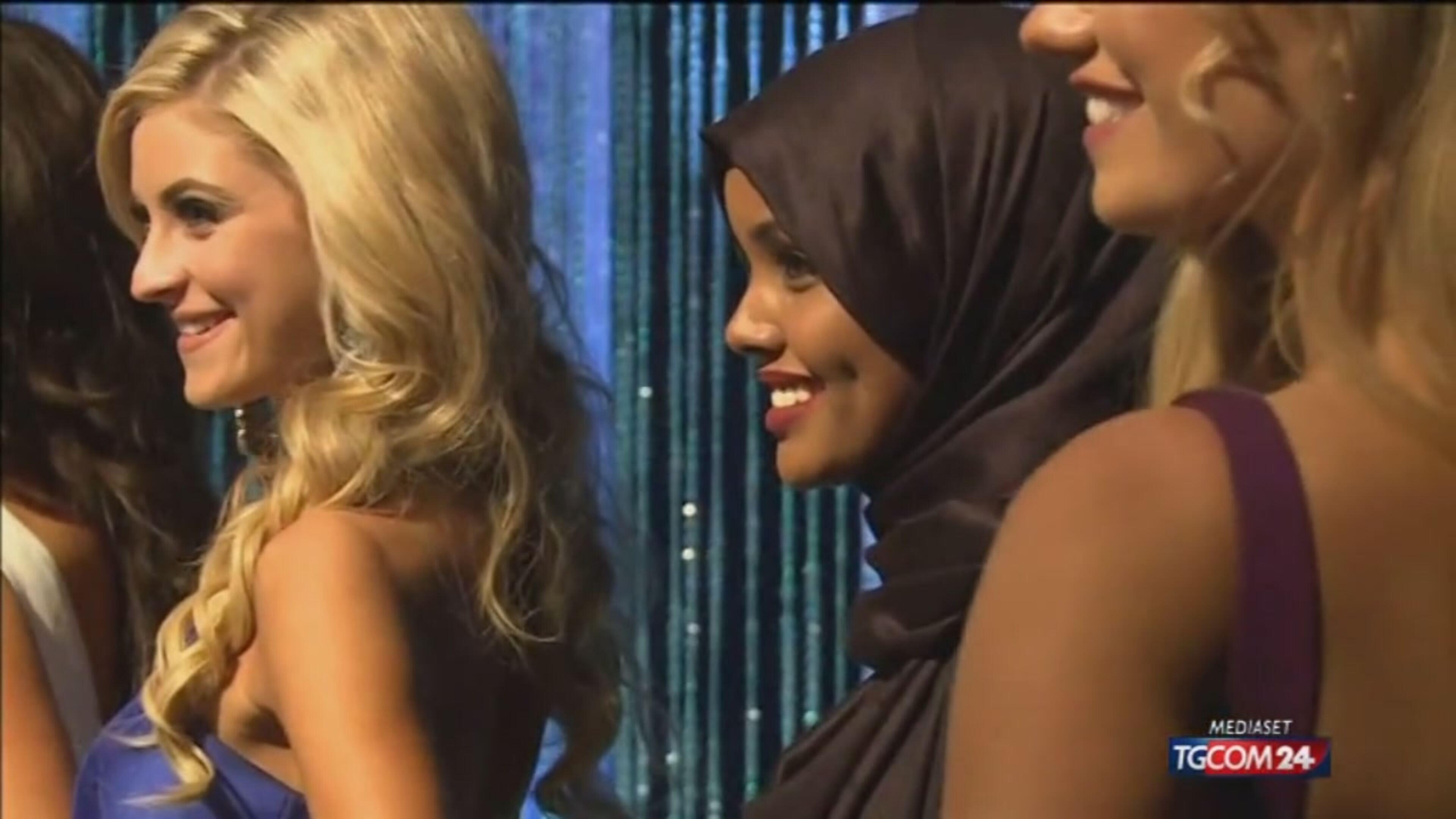 Usa, la modella con il velo sale sul podio di Miss Minnesota
