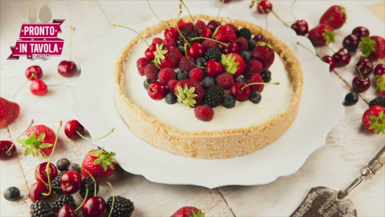 I Dolci di Alice, Torta senza cottura con crema al mascarpone e frutta fresca