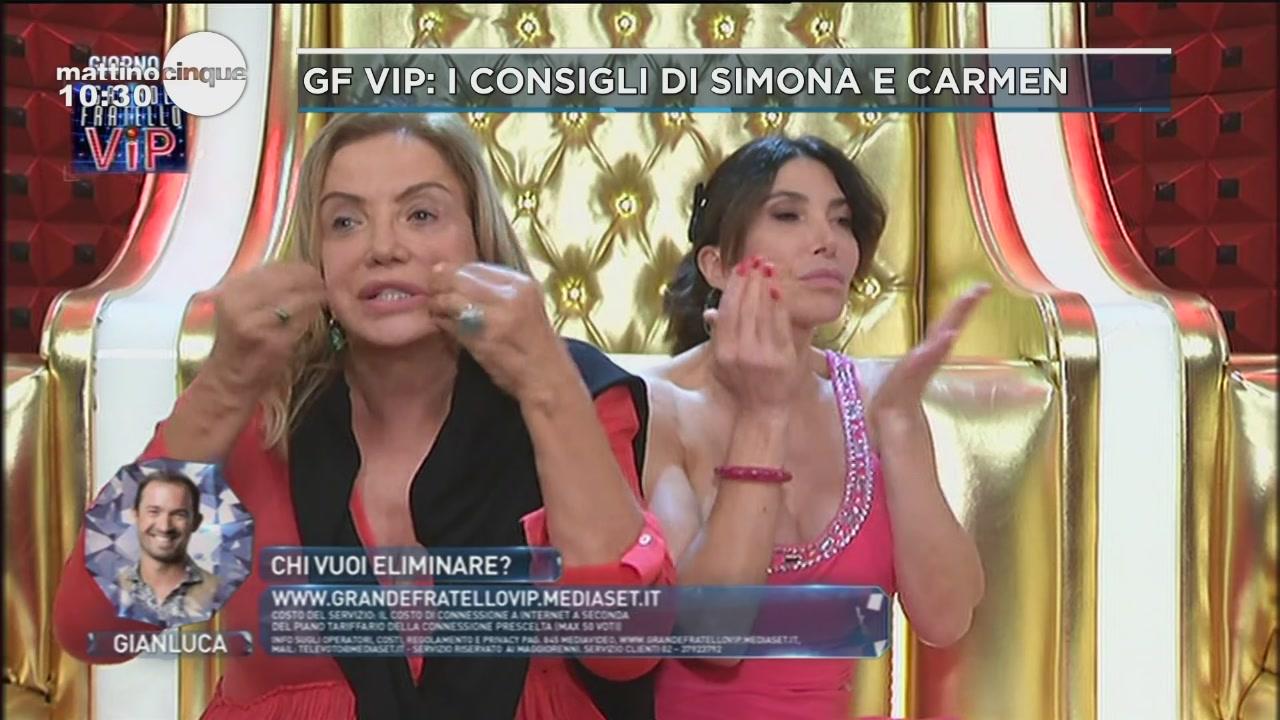 GF VIP: I consigli di Simona e Carmen