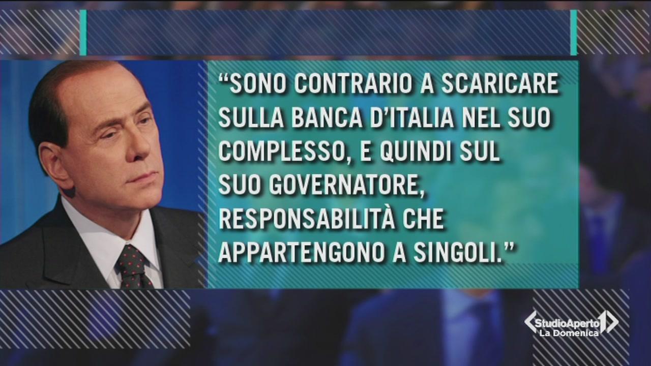 Vicenda Bankitalia: intervista a Berlusconi