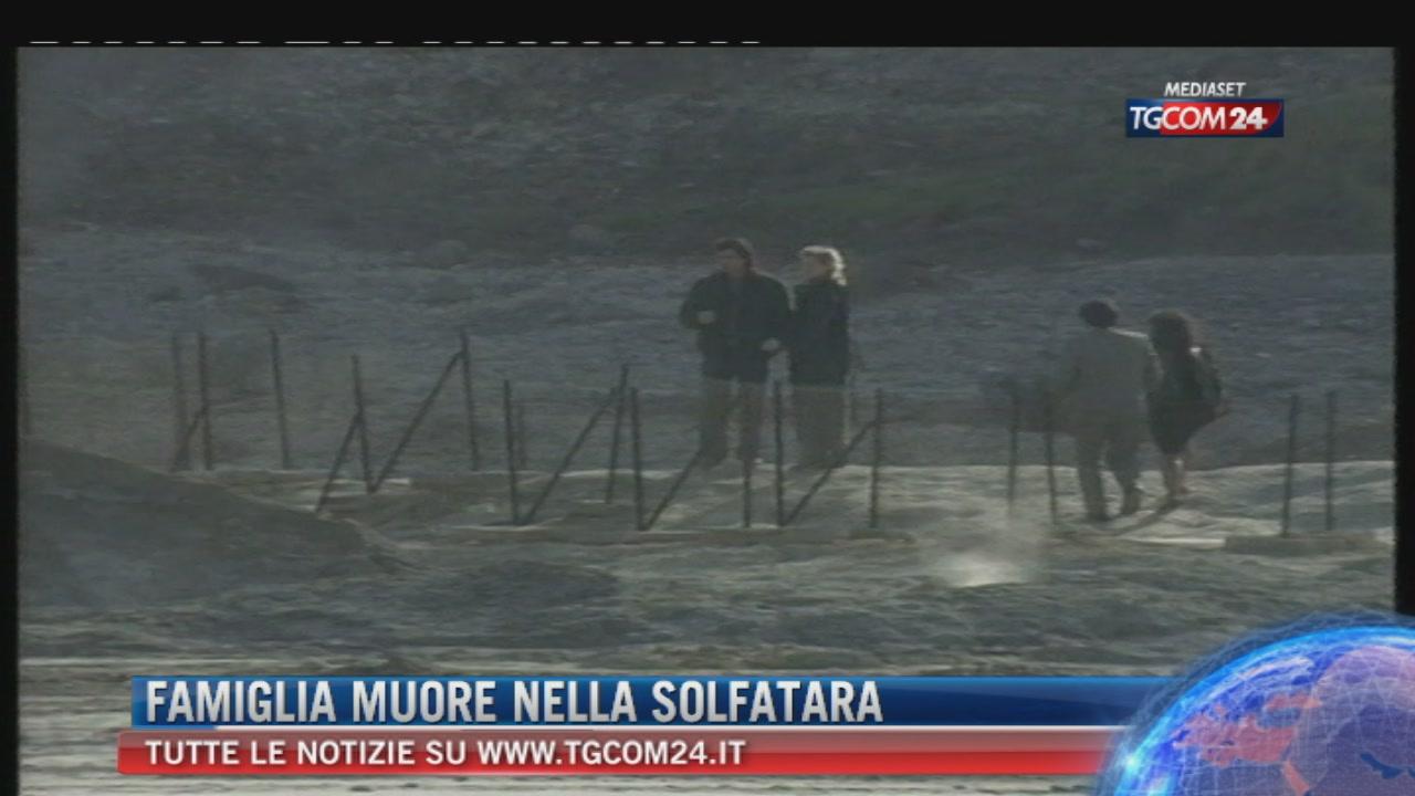 Tre morti nel cratere della Solfatara a Pozzuoli: padre, madre e figlio. Salvo un bambino