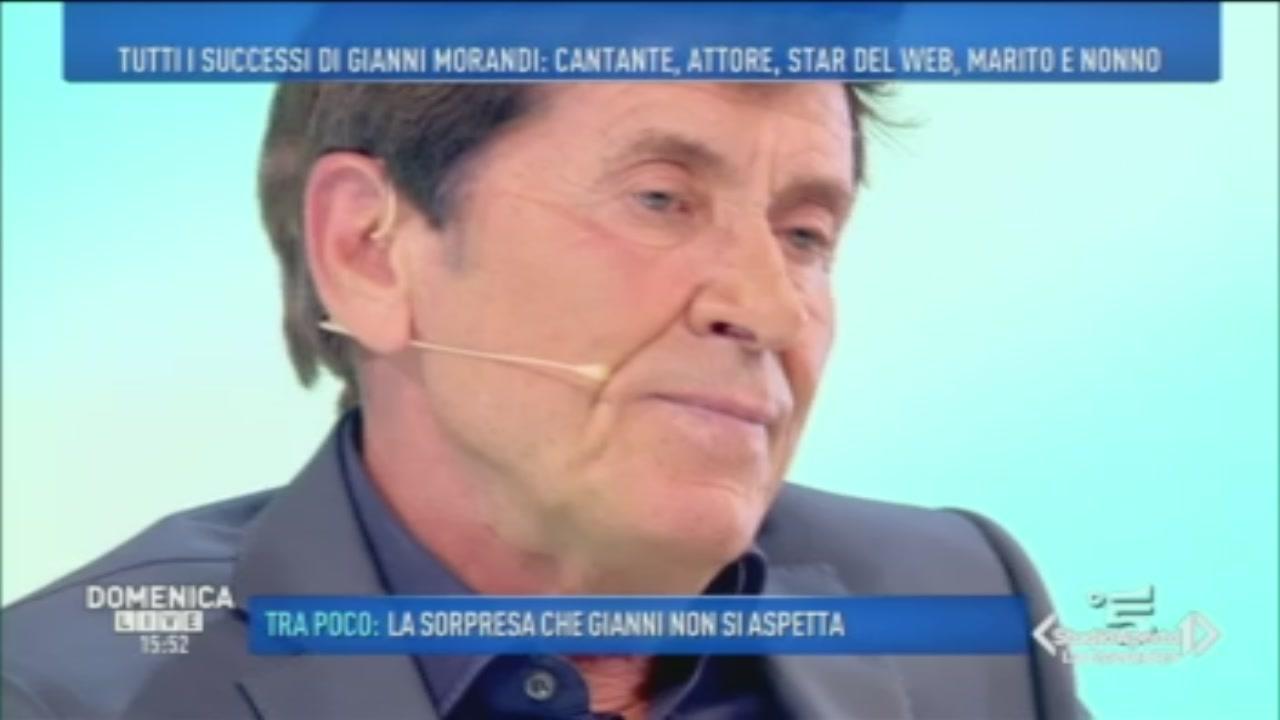 Gianni Morandi si racconta a Domenica Live