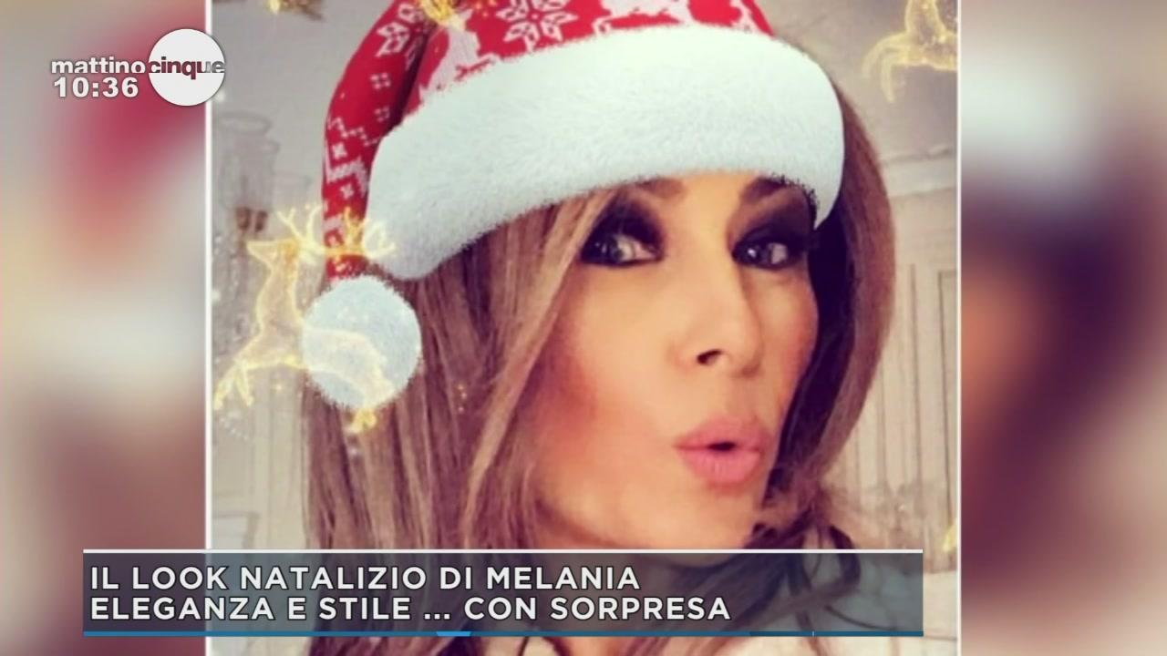 Il look natalizio di Melania