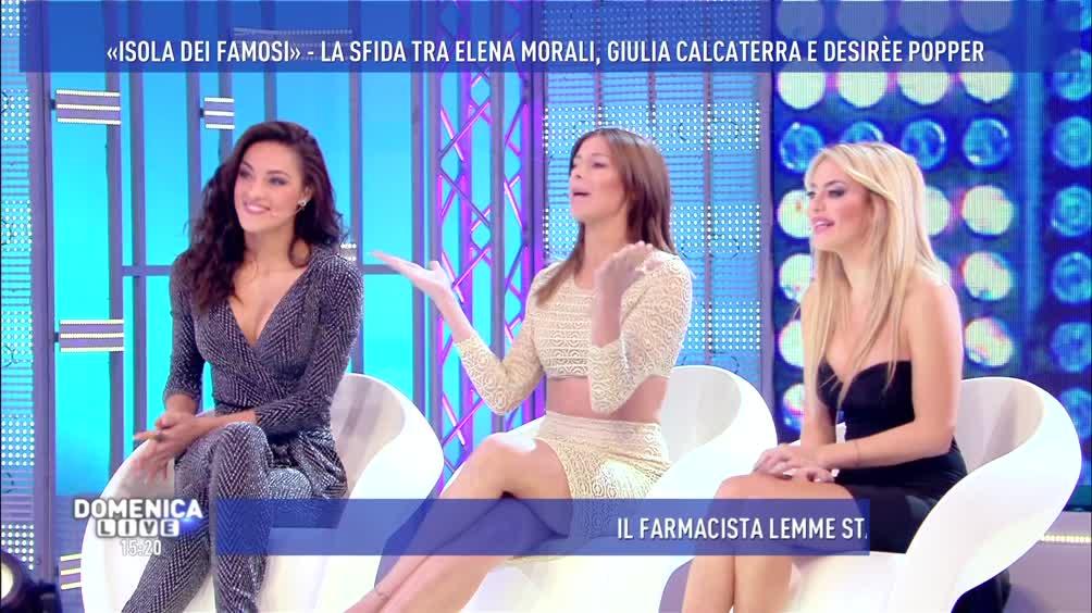 Elena Morali, Giulia Calcaterra e Desirèe Popper