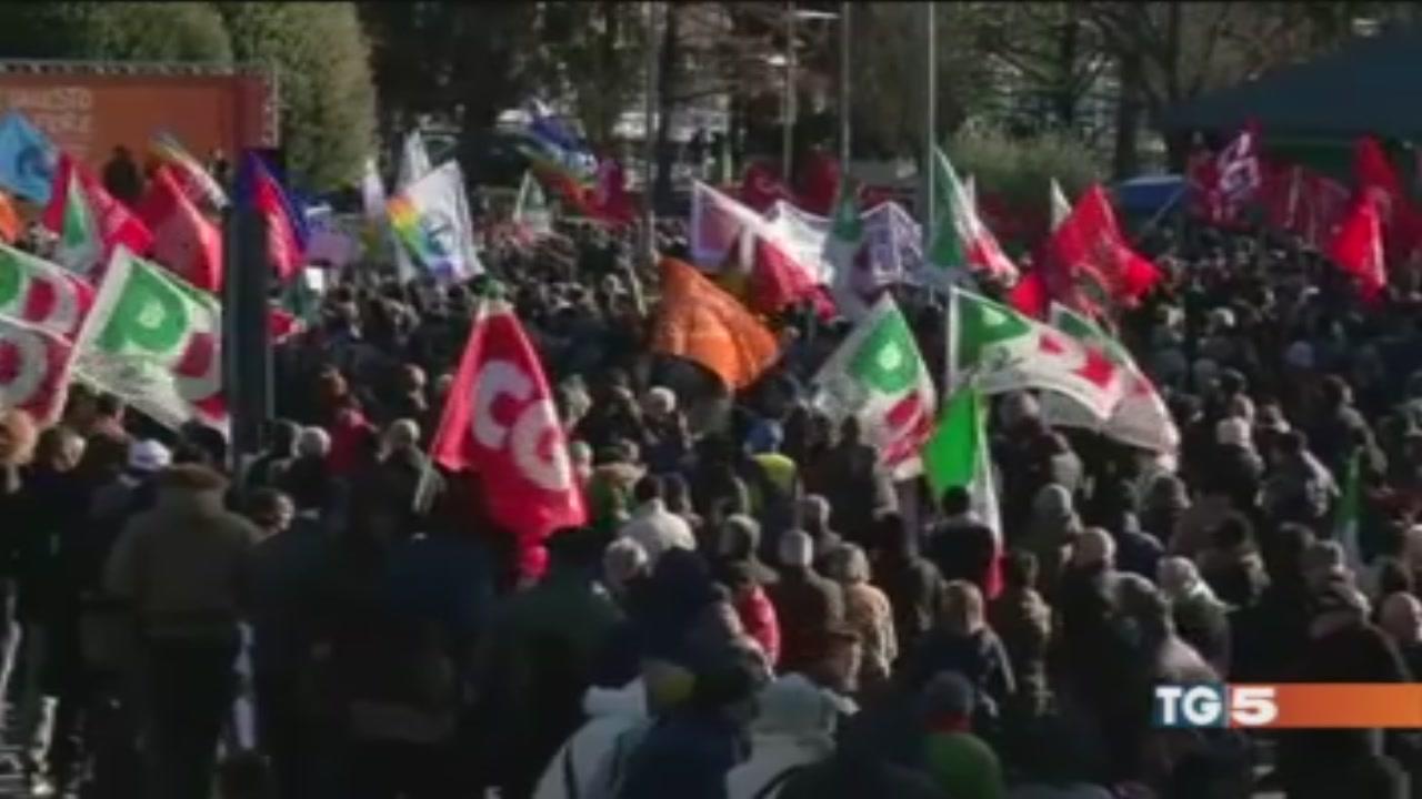 Manifestazione contro il fascismo a Como
