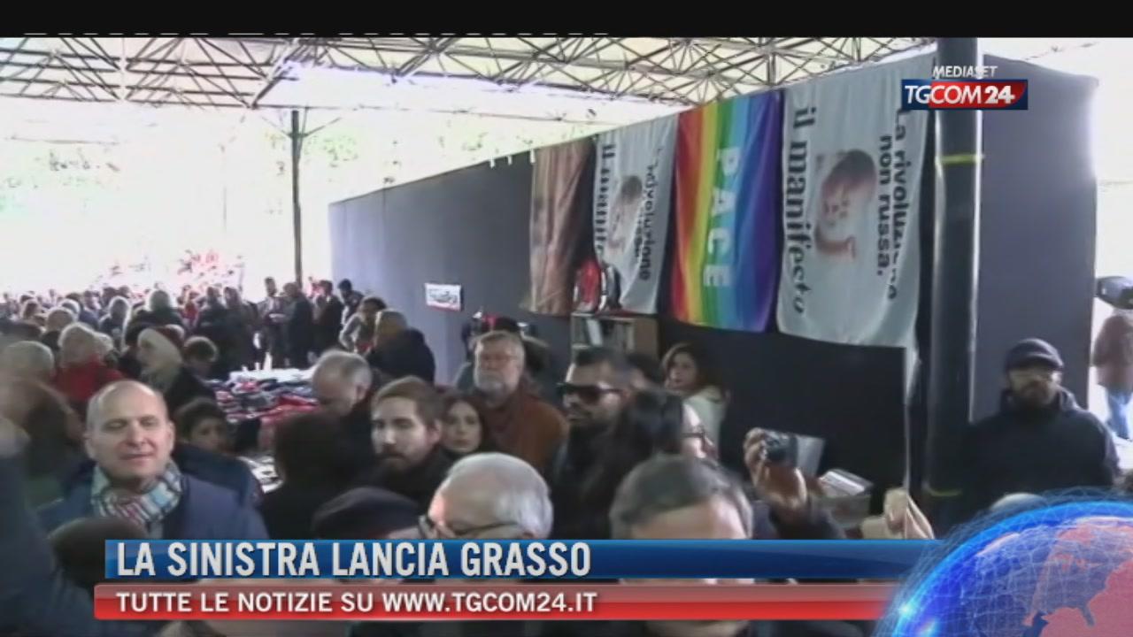 """Breaking News delle 21.30: """"La sinistra lancia Grasso"""""""