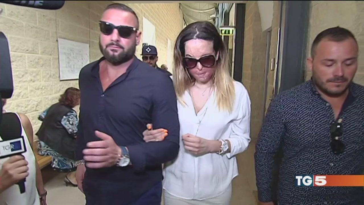 Gessica Notaro in aula al processo per stalking contro il suo ex