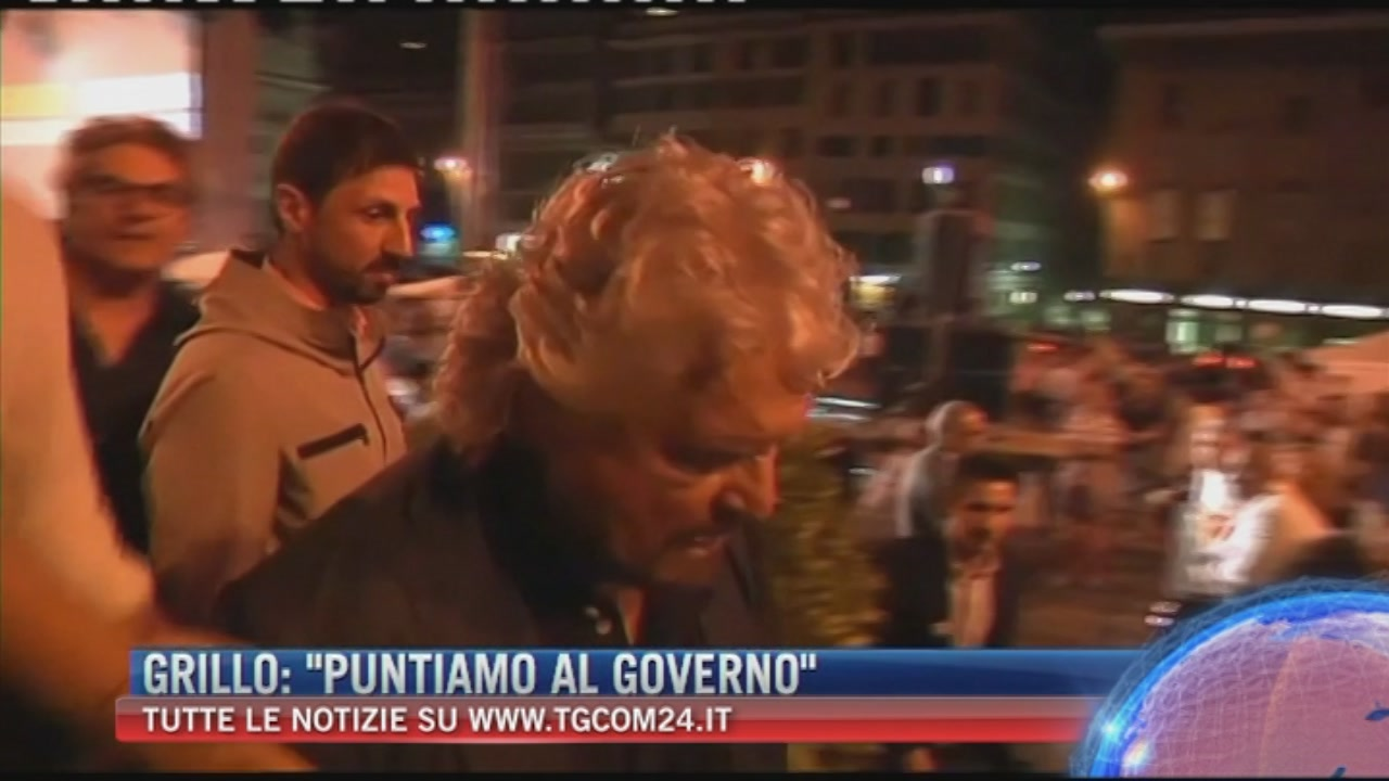 """Grillo: """"Puntiamo al governo"""""""