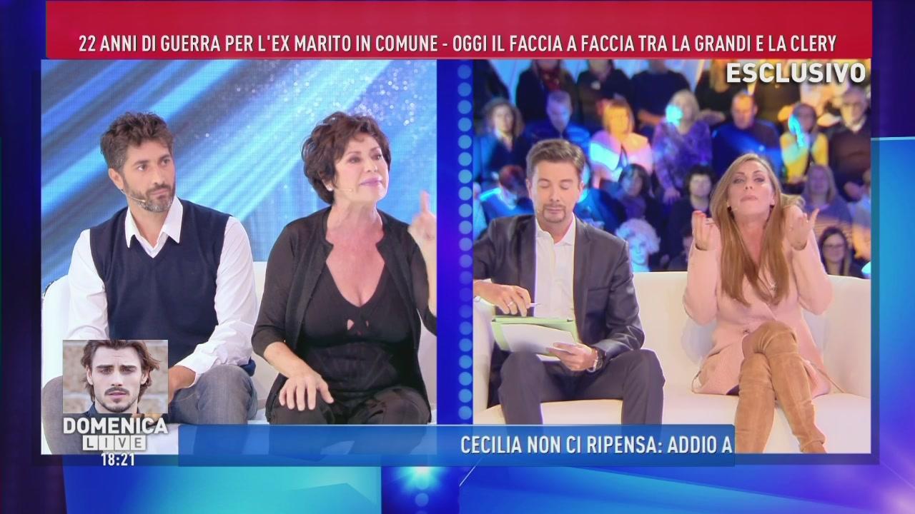 Serena Grandi, Corinne Clery e la stampa