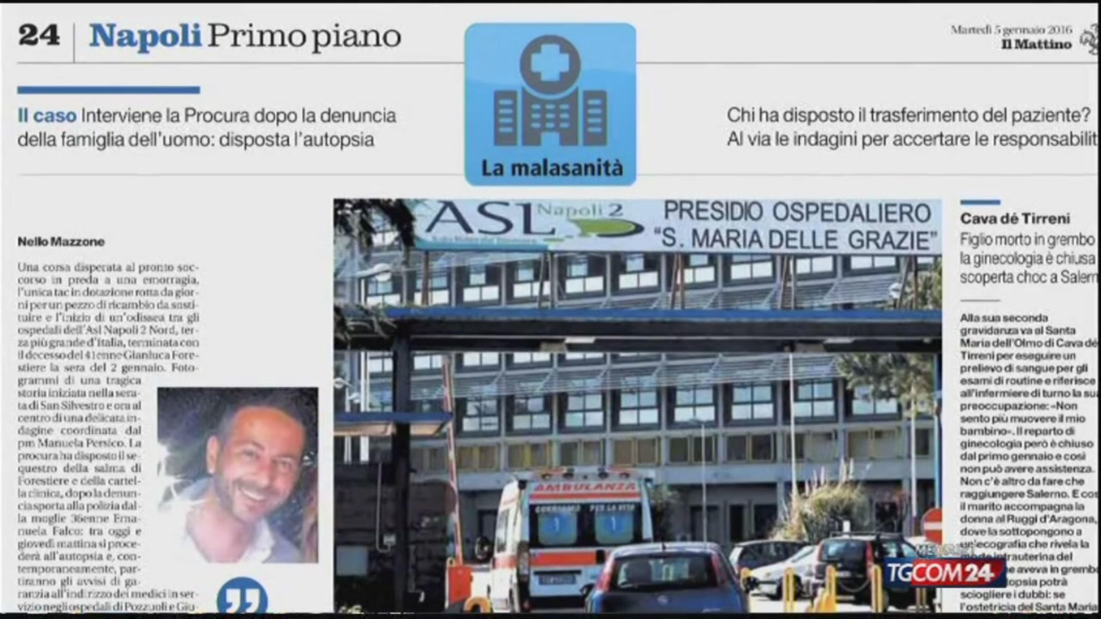 Napoli: niente Tac, muore per emorragia