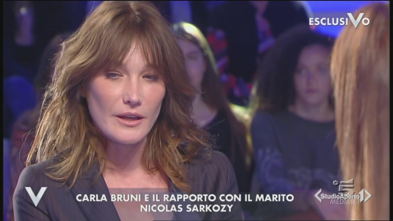 Carla Bruni ospite di Verissimo