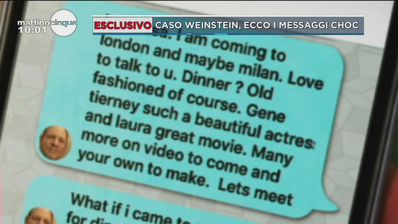 Caso Weinstein, gli sms insistenti