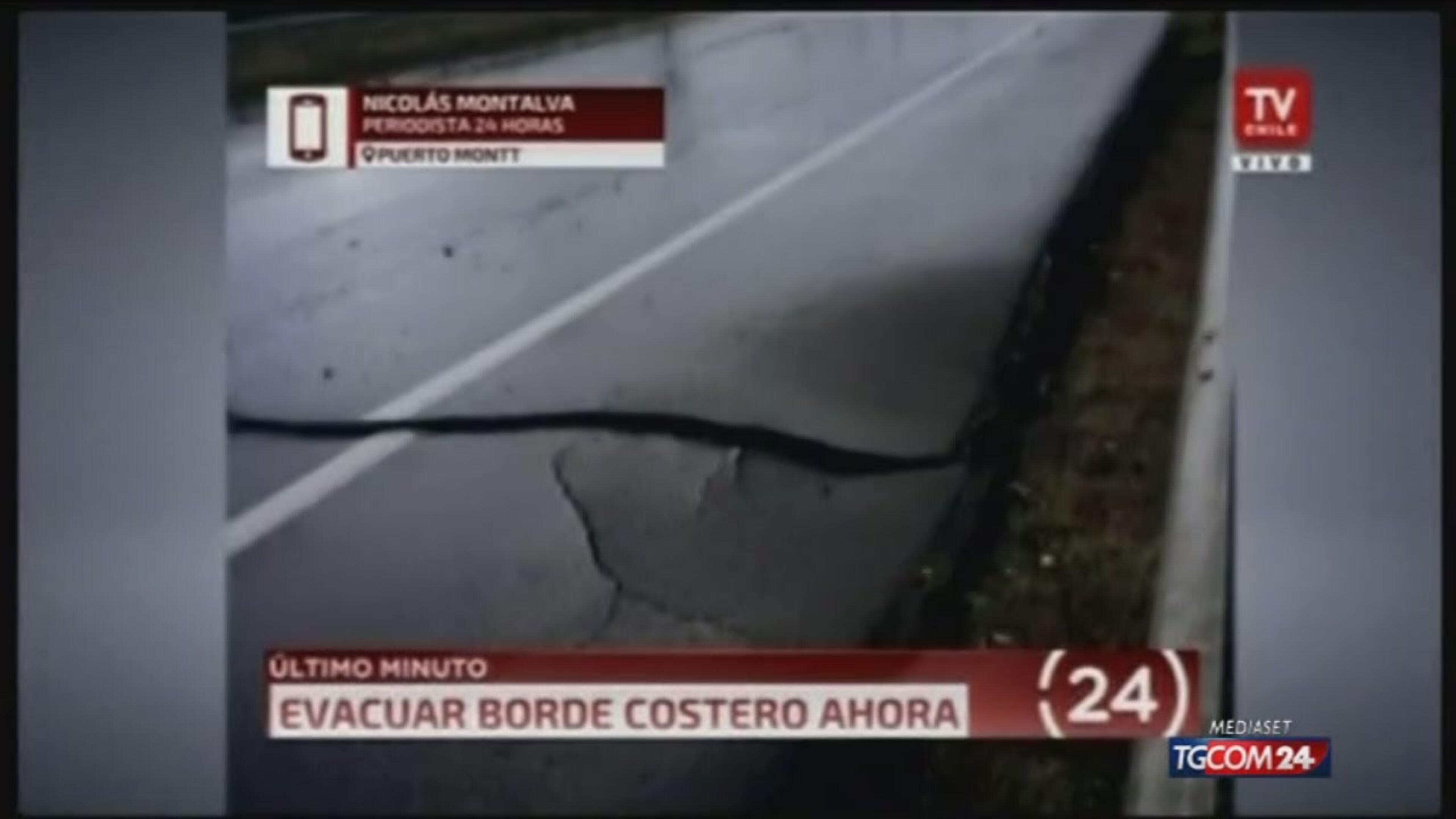 Scossa di terremoto in Cile, rientra allarme tsunami