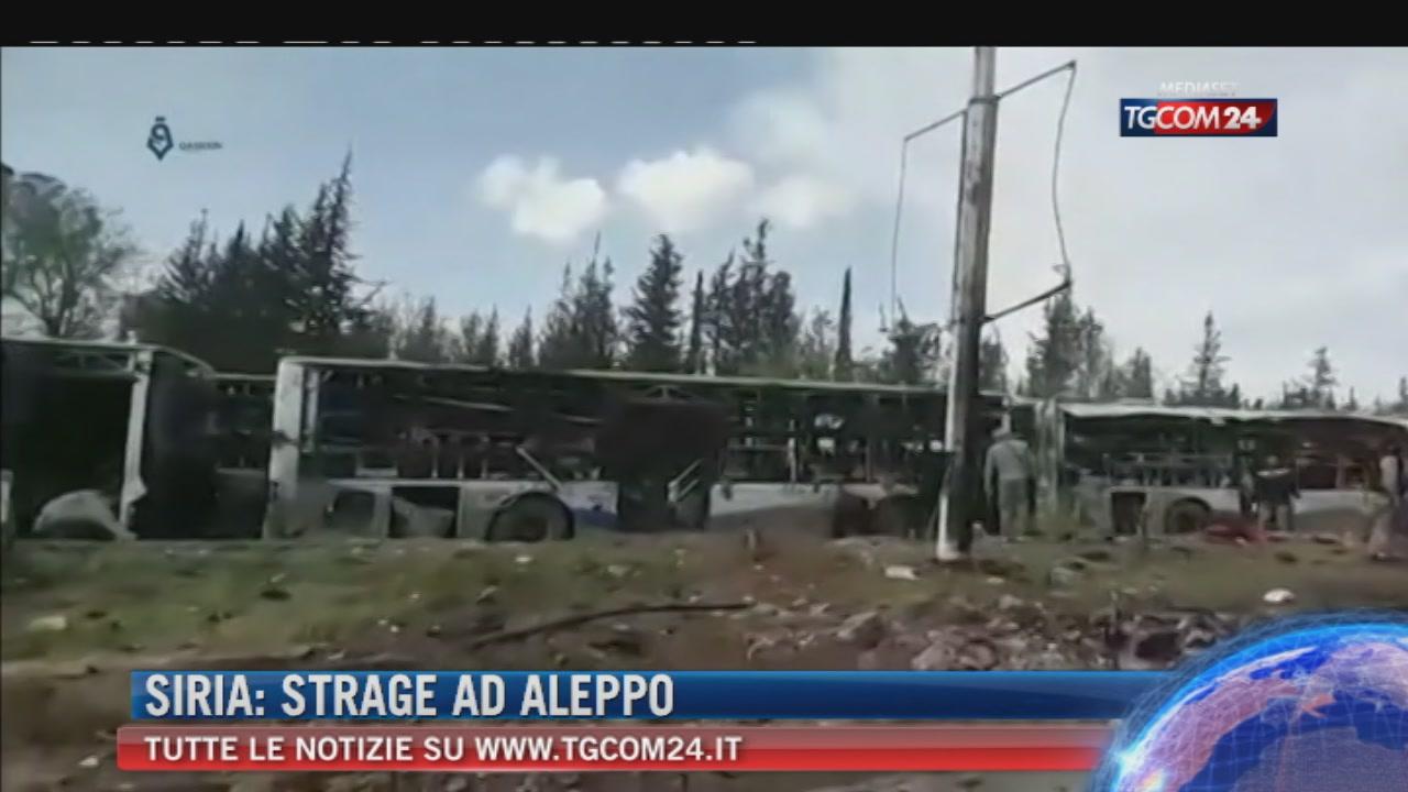 """Siria, autobomba tra sfollati di Foua e Kafraya. Soccorritori: """"Ecatombe, almeno 100 morti"""""""