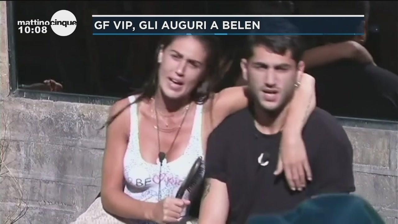 GF Vip 2: gli auguri a Belen
