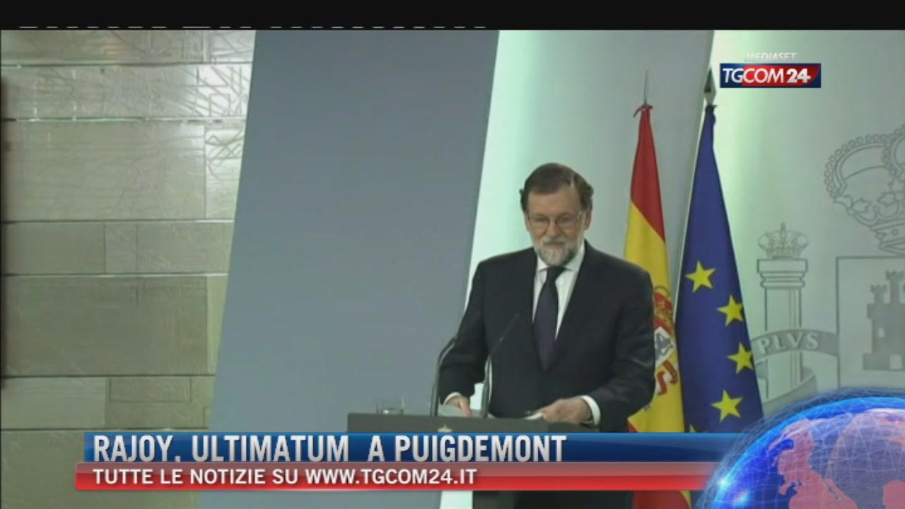 """Catalogna: Rajoy: """"Attacco sleale e pericoloso"""""""
