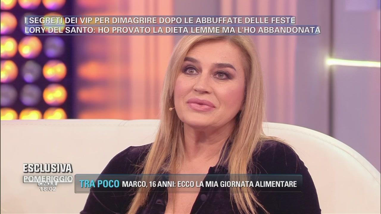 Lory Del Santo e le diete
