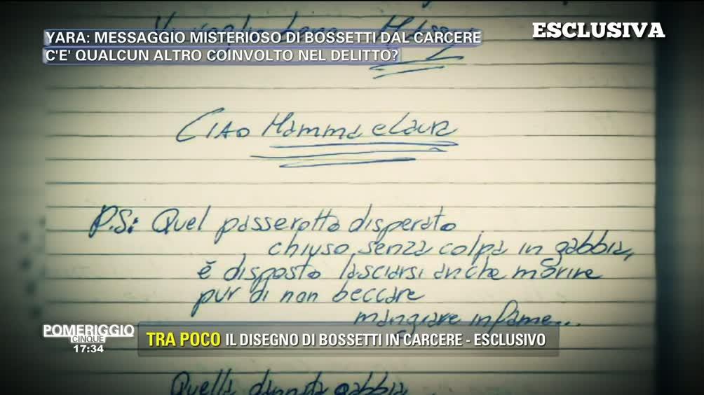 Yara: messaggio misterioso di Bossetti dal carcere