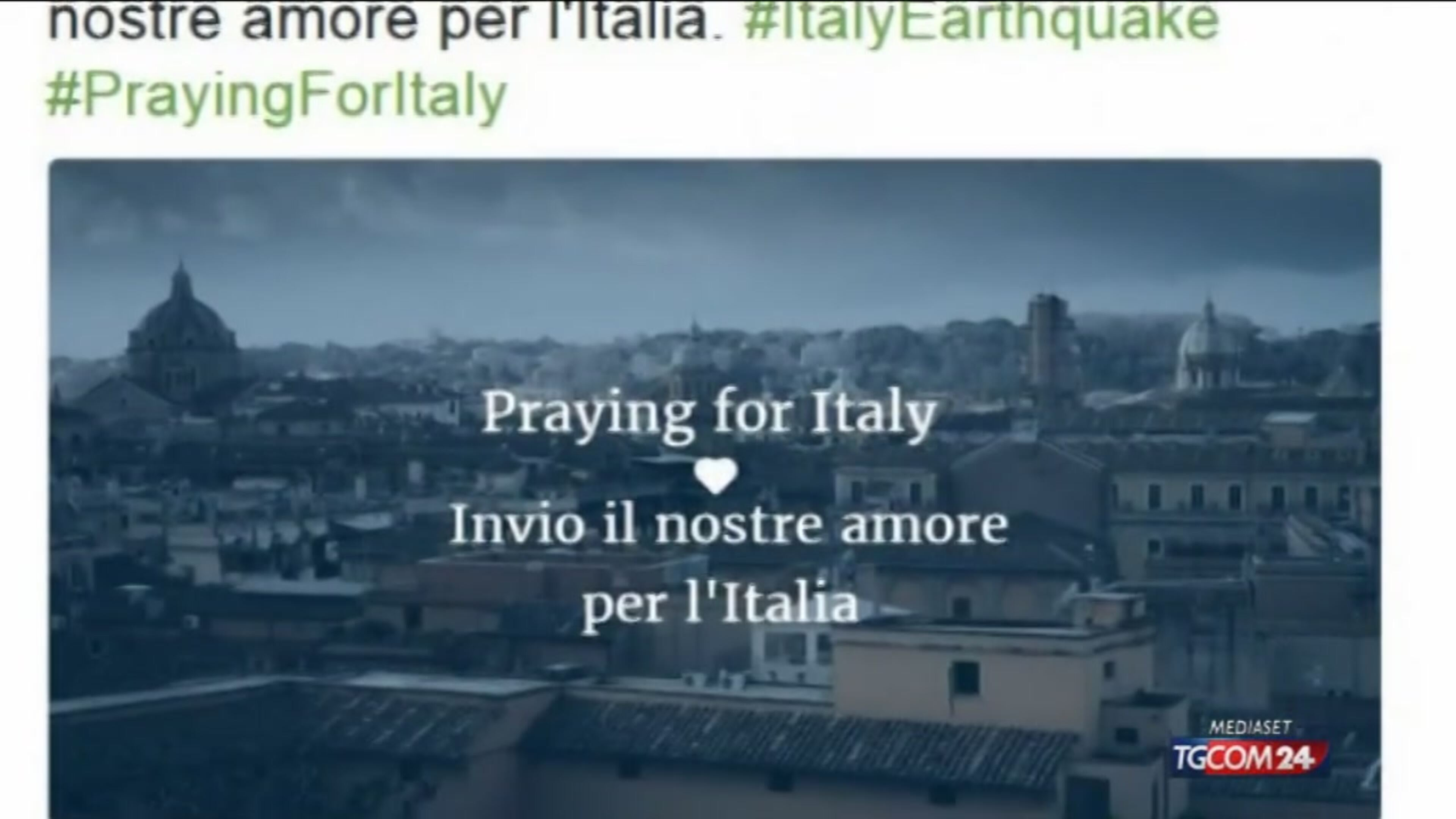 Terremoto: #PrayforItaly, la solidarietà del mondo