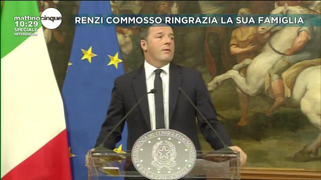 La commozione di Renzi
