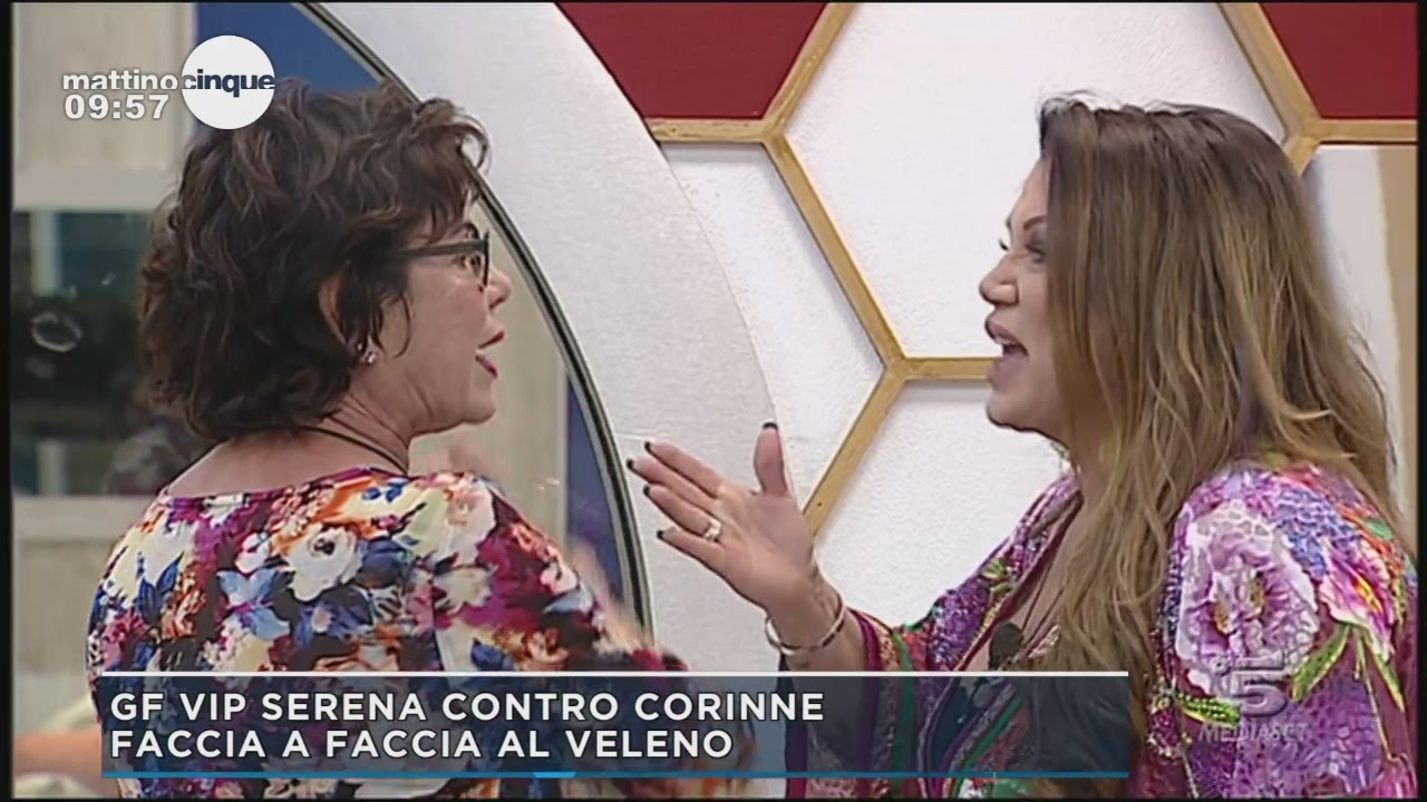 GF Vip 2: Serena Grandi vs Corinne Clery
