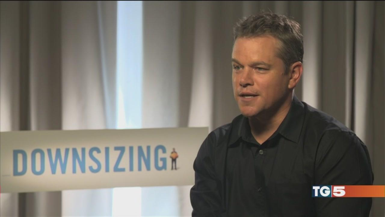 """Matt Damon si fa """"piccolo"""" a Venezia"""