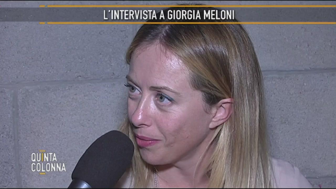 Intervista a Giorgia Meloni