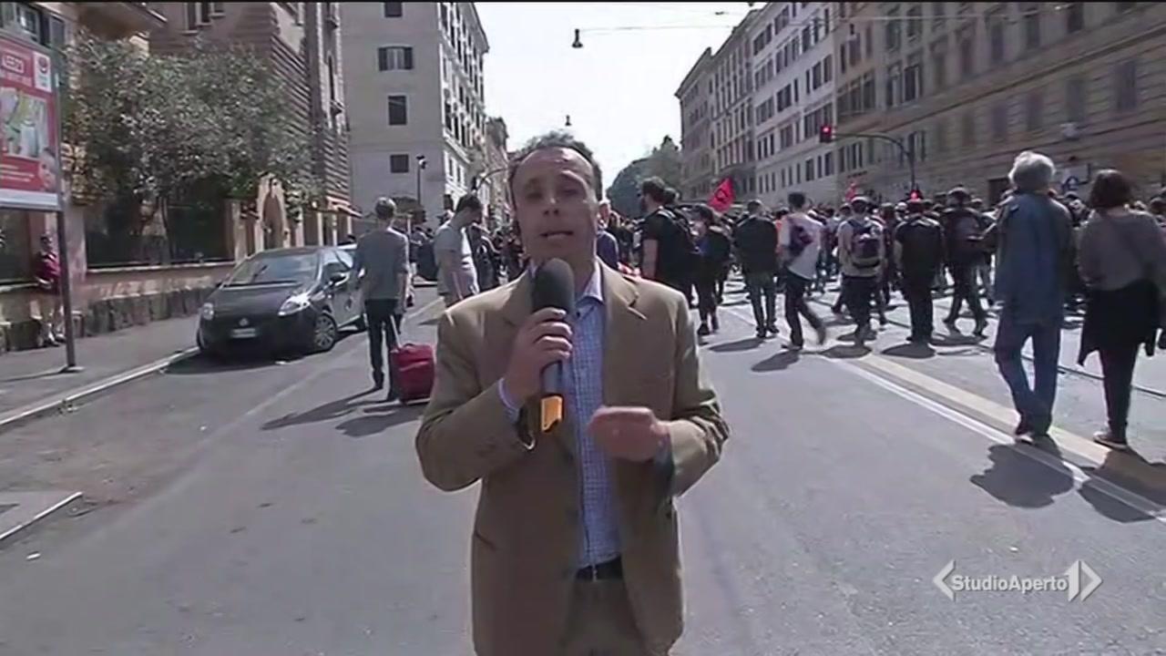Roma, giornata di tensione per l'ordine pubblico