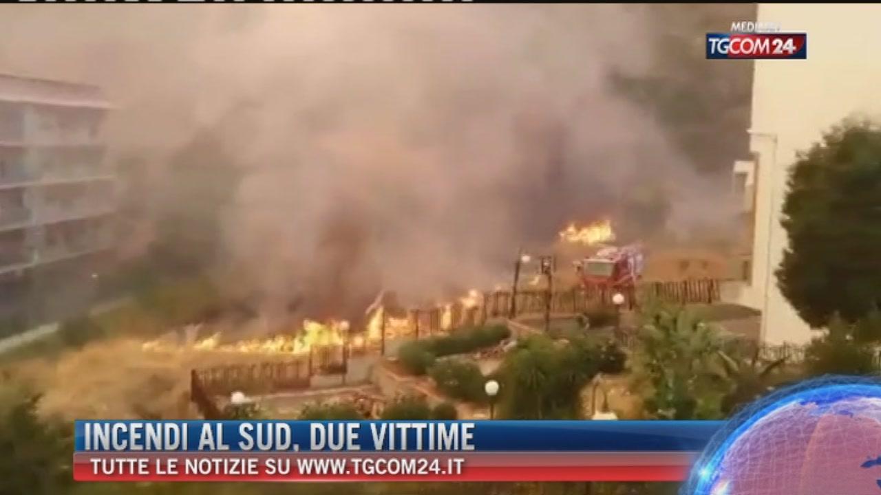 Incendi al sud, due vittime