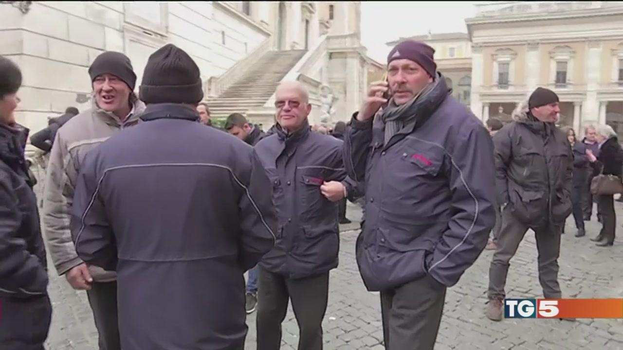 Roma, protesta dei bus